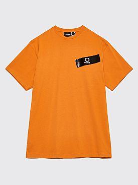 Raf Simons x Fred Perry Tape Detail T-Shirt Orange
