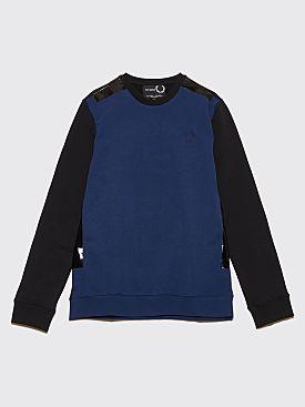Raf Simons x Fred Perry Tape Detail Sweatshirt Navy
