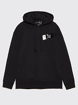 Raf Simons x Fred Perry Tape Detail Hooded Sweatshirt Black