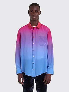 Sies Marjan Sander Silk Dégradé Shirt Lipstick / Blue