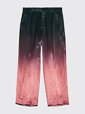 Sies Marjan Alex Cropped Dégradé Pants Bottle Green / Dark Salmon
