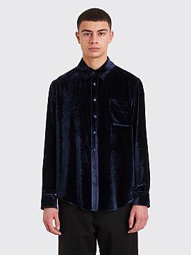 Sies Marjan Sander Fluid Corduroy Shirt Denim Blue