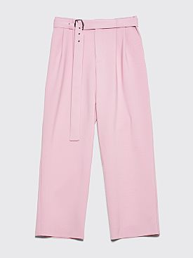 Sies Marjan Andy Wool Canvas Loose Fit Pants Soft Pink