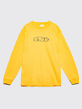 Sneeze Magazine Logo Long Sleeve Gold Orange T-shirt