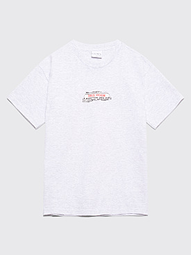 Sneeze Magazine Paper Trail T-shirt Ash Grey