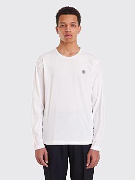 Stone Island Logo LS T-Shirt White