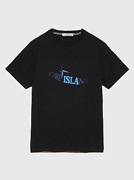 Stone Island Faded Logo T-Shirt Black