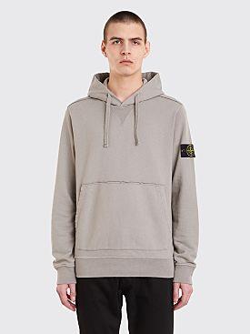 Stone Island Hooded Sweatshirt Light Grey