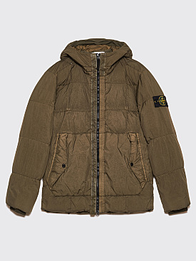 Stone Island GD Crinkle Reps Down Jacket Olive