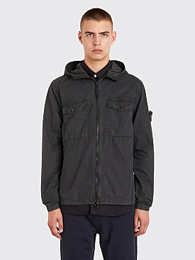 Stone Island Hooded Overshirt Charcoal