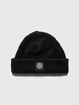 Stone Island Fleece Pile Hat Black