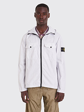 Stone Island Hooded Overshirt Ice