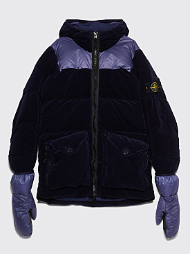 Stone Island Cotton Velvet Down TC Jacket Ink Blue