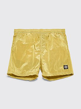 Stone Island Nylon Metal Swim Shorts Yellow