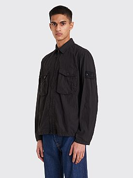 Stone Island Ghost Cotton Nylon Tela Overshirt Black