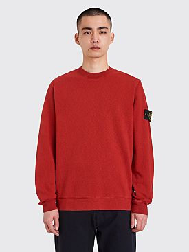 Stone Island GD Crew Neck Sweatshirt Brick Red