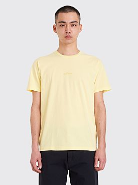 Stone Island Reflective Reverse Logo T-shirt Lemon Yellow
