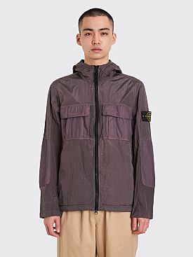 Stone Island Zip Nylon Metal Hooded Jacket Blue Grey