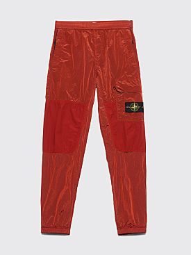 Stone Island Nylon Metal Track Pants Brick Red