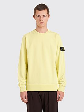 Stone Island GD Crew Neck Sweatshirt Lemon Yellow