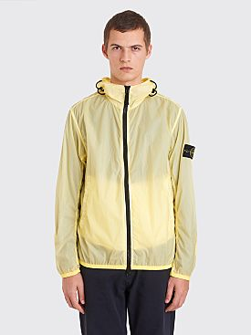 Stone Island Lamy Velour Jacket Lemon Yellow