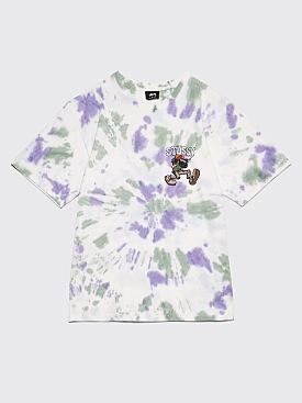 Stüssy Mr Natty Tie Dye T-Shirt White / Purple