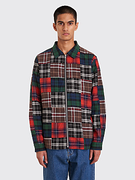 Stüssy Patchwork Zip Up Shirt Plaid