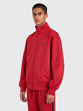 Stüssy Textured Rib Track Jacket Red