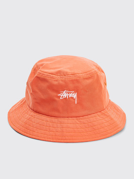 Stüssy Stock Bucket Hat Orange