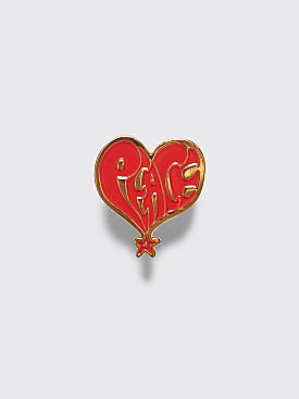 Stüssy Peace Pin Gold / Red