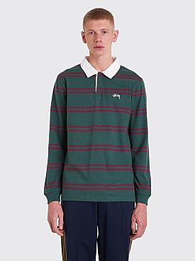 Stüssy Desmond Stripe Rugby Shirt Pine Green