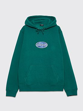 Stüssy Hooded Sweatshirt Oval Applique Green