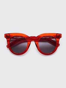 Sun Buddies for Carhartt WIP Juliette Sunglasses Transparent Red
