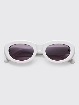 Sun Buddies Courtney Sunglasses Solid White