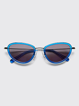 Sun Buddies Left Eye Sunglasses Silicon Valley Blue / Silver