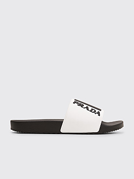 Prada Rubber Slippers White