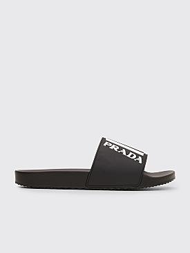 Prada Rubber Slippers Black