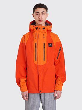 Très Bien x Haglöfs Helium Ripstop 3L Jacket Habanero Orange