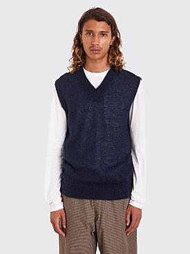 Très Bien Knit Vest Mohair Navy