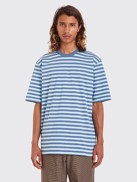 Très Bien Volume Tee Stripe Pale Blue / Dusty Blue