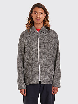 Très Bien Zip Blouson Wool Check Light Grey