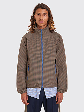 Très Bien Warm Up Jacket Houndstooth Tech Brown