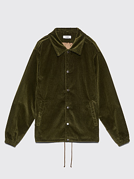 Très Bien Coach's Jacket Cord Seersucker Bottle Green