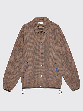 Très Bien Coach's Jacket Houndstooth Tech Brown