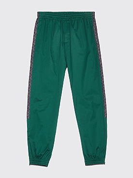 Très Bien Warm Up Trousers Jacquard Panel Forest Green