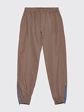 Très Bien Warm Up Trousers Houndstooth Tech Brown