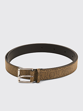 Très Bien Leather Belt Snake Tamar Beige