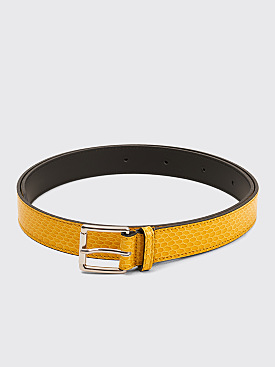 Très Bien Leather Belt Snake Cambra Yellow