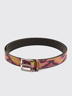 Très Bien Leather Belt Snake Atheris Pink
