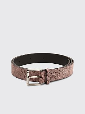 Très Bien Leather Belt Snake Tamar Light Pink